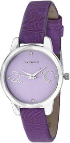 Laurels Purple Color Analog Women's Watch With Strap: L