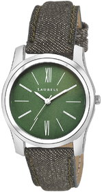 Laurels Green Color Analog Women's Watch With Strap: LW