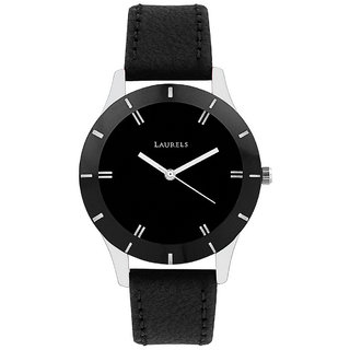 Laurels Black Color Analog Women's Watch With Strap: LW