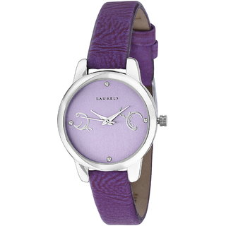 Laurels Purple Color Analog Women's Watch With Strap: L