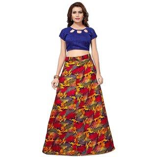 bec8a230bd Active Women's Banglori Satin Semi-Stitched Lehenga Choli (L-100 ZigZag  Yellow)