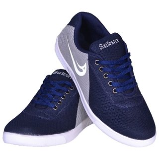 Sukun Gray Lace-up Mesh Air Mix Smart Casual Shoes For Men