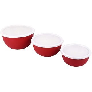 Essentials Stainless Steel Bowl Set 3-Pieces(1 ltr 750ml 400ml)