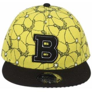 Buy DRUNKEN Men s Yellow And Black Adjustable Snapback Acrylic Cap ... 1dac7d07931d
