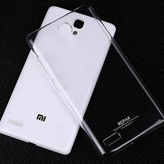 Redmi Note Mobile Ultra Thin hard plastic  Transparent Back Cover