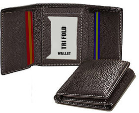 Tri Fold Leather Wallet for Men