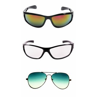 ab14b530a95 Buy Derry Pack of 3 UV Protection Sunglasses in Tri Color Online ...