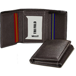 BB Tri Fold Leather Wallet for Men and women