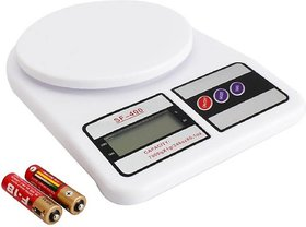 Digital Kitchen Scale Electronic Weighing Scale 10 Kg Design for Spices Vegetable Liquids, Ivory (White)