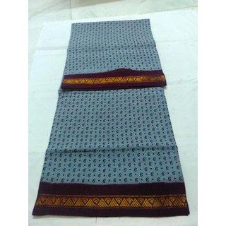 Grey Bengal Cotton Saree Zari Border Handloom New Saree Double Side Border Sungadi Saree