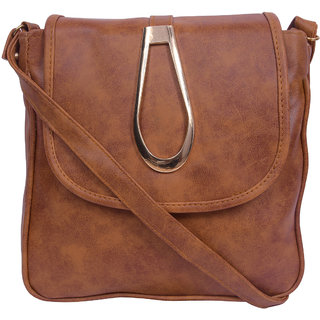 EzeeLives Girls Tan Sling Bag