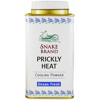 Snake brand Prickly Heat Cooling Powder Ocean Fresh - 150g