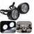 Autonext Fog Light Mirror Mount 4 Led 16w White Light Auxillary Light -1 Pair- For Scooty All Type