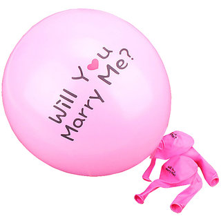 Futaba Will you marry me Balloon - Pink - Pack of Ten