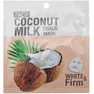 Facy Coconut Milk Tissue Mask, White & Firm