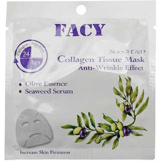 Facy Collagen Tissue Mask, Anti Wrinkle Effect