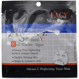 Facy Men Focus Arginine & Zinc Silicium C Red Marine Algae Tissue Mask