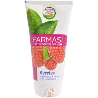 Farmasi Energizing Peel Off Mask, Berries - 170ml (5.7oz)