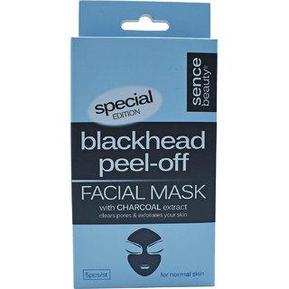Sence Beauty Blackhead Peel-Off Facial Mask with Charcoal Extract - 5pc/Set