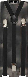 Y- Back Suspenders (BLACK) for Men, Women