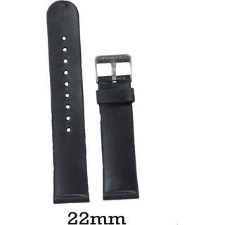 kolet 22 Mm Pvc Watch Strap (Black)