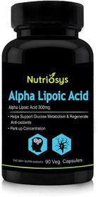 Nutriosys Alpha Lipoic Acid - 300mg (90 Veg Capsules)