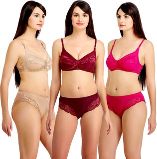 bd816063e0 Fashion Comfortz Womens Multicolor (4WAY) Bikini Set for women