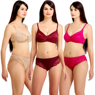 Fashion Comfortz Womens Multicolor (4WAY) Bikini Set for women