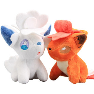 Pokemon GO Pokeball Set Of 2 Pcs. Vulpix Soft Toy Plush Stuffed Toys