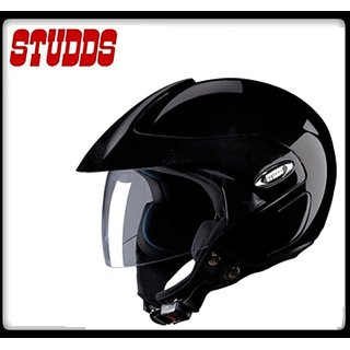 Studds Marshall Open Face Helmet - ( Black Color ) @ Best Price.!