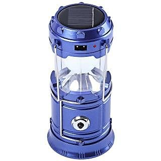 6 LED PORTABLE RECHARGEABLE EMERGENCY LIGHT LAMP TENT LANTERN SOLAR CHARGING. (ASSORTED COLORS)