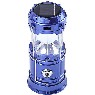 Premium Quality 6+1 LED Solar Power Camping Lantern Light Rechargeable Collapsible Night Light