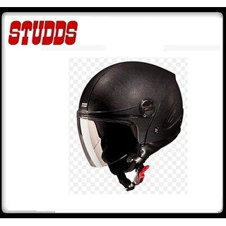 Studds Track Open Face Helmet - ( Black Color ) @ Best Price.!