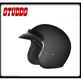 Studds Jetstar Open Face Helmet - ( Black Color )@ Best Price.!