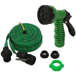Multipurpose Use Car Wash Pipe Flat Hose Water Gun Spray 10 mtr