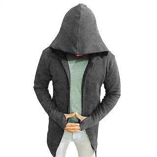 PAUSE Casual Plain Men's Hooded Sweatshirt