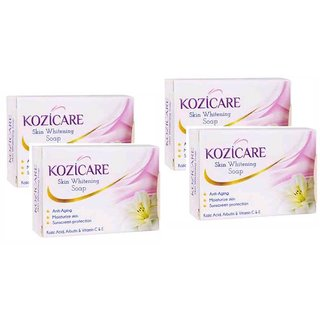 Kozicare Whitening & Fairness All Skin Types  Soap 75gm (Pack of 4)