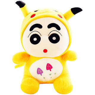 Shinchan Wearing Pikachu Dress 22cms. Imported Soft Toy Plush Stuffed Toys