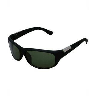 Meia Black Medium Full Rim UV Protection Wrap-around Unisex Sunglasses