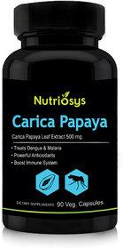 Nutriosys Carica Papaya Leaf Extract - 500mg (90 Veg Ca