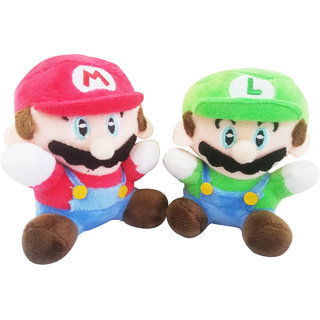 Super Mario Bros. Set Of 2 Pcs. Mario And Luigi 10cms. Soft Toy Plush Stuffed Toys