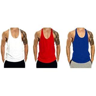 e2be23e8d7d4fa The Blazze Men s Blank Stringer Y Back Bodybuilding Gym Tank Tops Pack of 3