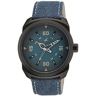 Fastrack OTS Explorer Analog Blue Dial Mens Watch - 9463AL07J