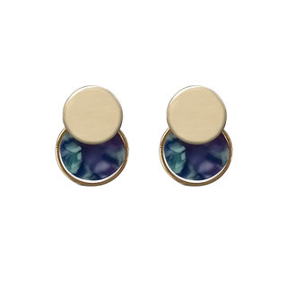 JewelMaze Blue Acrylic Dangler Earrings - 1314007C