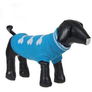 Futaba Dog Bone Style Dog Sweater - Blue - XXL
