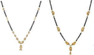 Chrishan High Gold Plated Marvelous Combo Of Kanthi Mangalsutra Set For Women.