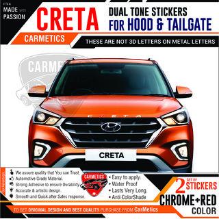 Buy Creta Stickers For Hyundai Creta Chrome Red Carmetics Online
