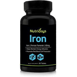 Nutriosys Iron Ferrous fumarate 65mg (90 Tablets)