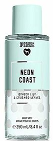 Pink NEON COAST Ginger Lily  Crushed Leaves Body Mist 250ML/8.4oz