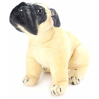 AKSHATA Pug Dog Stuffed Soft Plush Toy 32cm (Small) Size 32 cm